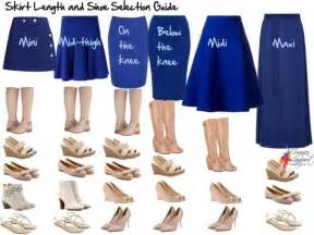 your essential skirt length and shoe selection guide