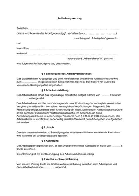 Kostenlose Vorlage Aufhebungsvertrag Arbeitsvertrag Kostenlose Muster Vorlagen F 252 R Arbeitsvertr 228 Ge Aller 187 Staff Direct