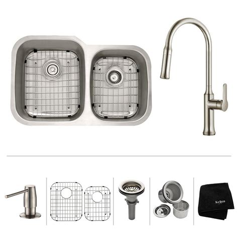 All In One Kitchen Sink Kraus All In One Undermount Stainless Steel 23 In Single