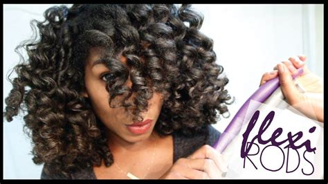 rod curl straight hair gorgeous quick easy flexi rod set method with highlights