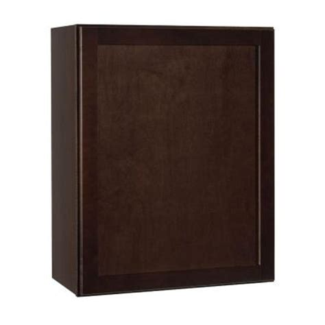 home depot shaker cabinets hton bay 24x30x12 in shaker wall cabinet in java