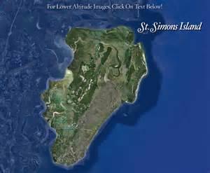 aerial views of st simons island