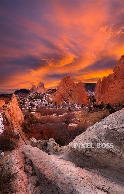 Garden Of Colorado Garden Of The Gods Sunset Swirl Pixel Ultra