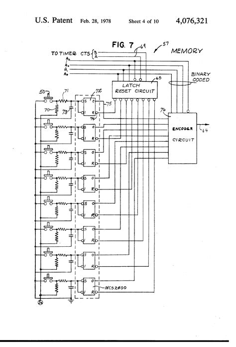linen diagram patent us4076321 electronic system for operating
