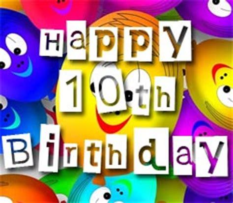 Happy Birthday Wishes 10 Year Boy Happy 10th Birthday Quotes Quotesgram