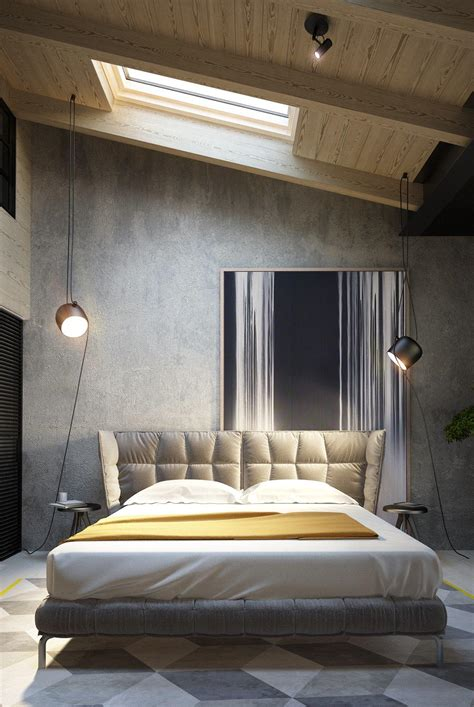 Designer Walls For Bedroom Exposed Concrete Walls Ideas Inspiration