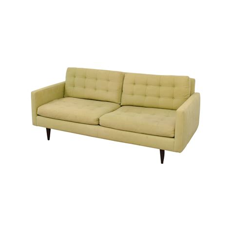 green tufted sofa 77 off crate barrel crate barrel petrie pale green