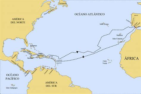 rutas de los barcos de cristobal colon viajes de crist 243 bal col 243 n rutas diario objetivos y m 225 s