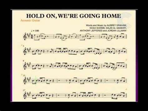 guitar hold on we re going home sheet