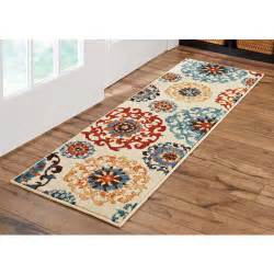 Walmart Kitchen Rug Better Homes And Gardens Suzani Runner Rug Multi Colored