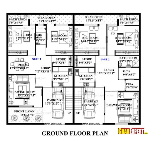 dimensions of 200 square feet house plan for 60 feet by 50 feet plot plot size 333