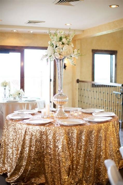 gold sequin tablecloth wedding reception wedding tablecloths ballroom wedding wedding