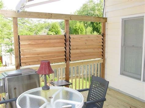 simple and easy backyard privacy ideas midcityeast diy simple louvered privacy fence for deck patio in your