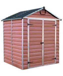 buy palram skylight plastic shed 6x5ft at argos co
