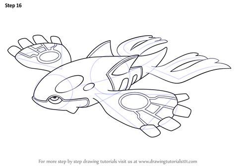 pokemon coloring pages kyogre learn how to draw kyogre from pokemon pokemon step by