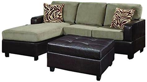 3 piece modern microfiber faux leather sectional sofa with ottoman bobkona manhanttan reversible microfiber 3 piece sectional