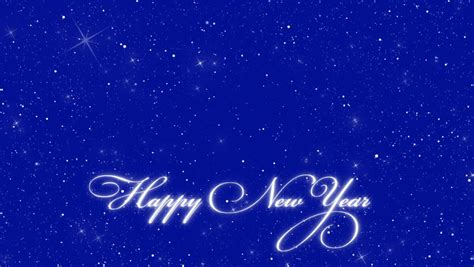new year loop blue abstract background text happy new year