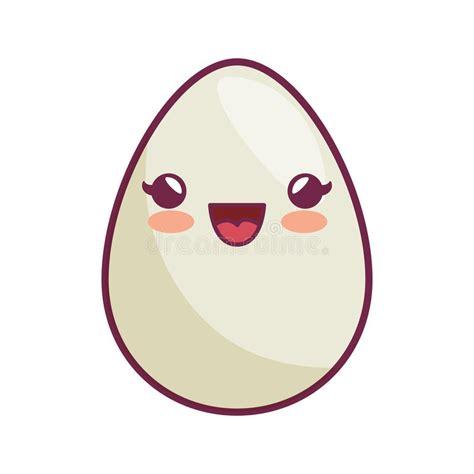 imagenes de huevos kawaii icono del estilo del kawaii del huevo ilustraci 243 n del