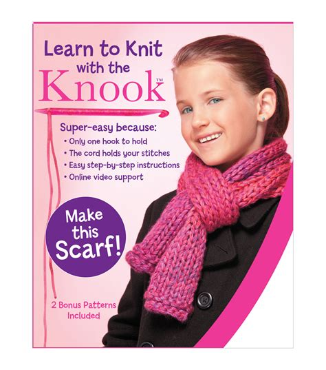 learn to knit in the learn to knit scarf kit jo