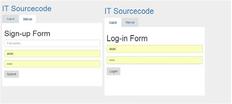 control layout using css login and signup in the tab control with css and jquery