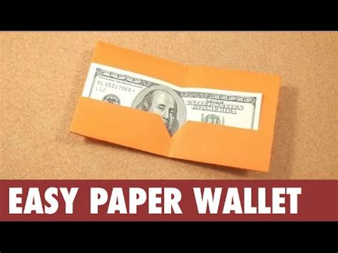 How To Make Paper At Home Easy - how to make piggy bank paper wallet easy at home for