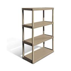plastic storage shelves lowes shop enviro elements 55 in h x 34 in w x 16 in d 4 tier
