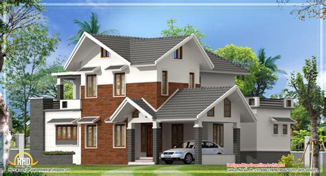 sloping roof house designs modern sloping roof house kerala home design floor