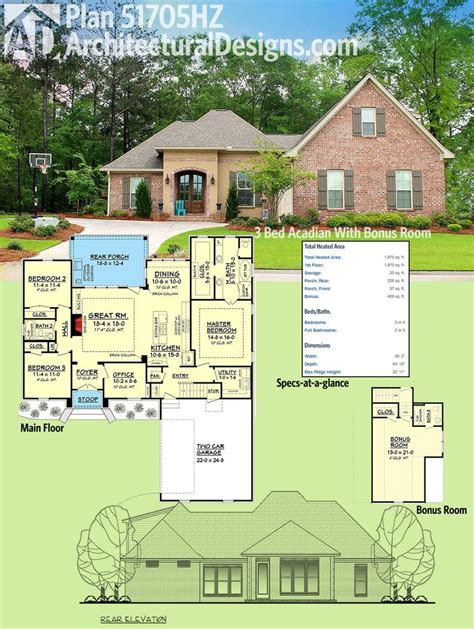 acadian house plans with bonus room 124 best acadian style house plans images on pinterest