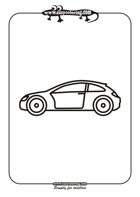 simple coloring pages of cars free coloring pages of simple car