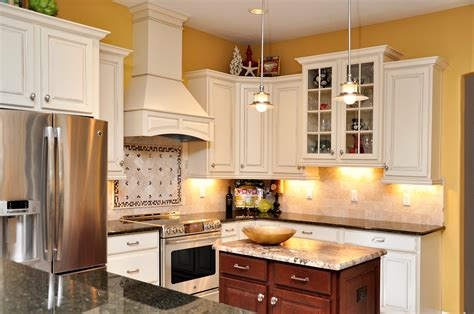 Yellow Kitchen With White Cabinets Yellow Kitchen Cabinets Quicua