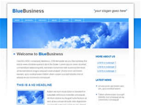 free business css templates bluebusiness free website template free css templates