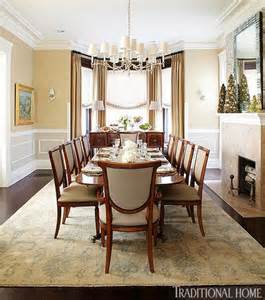 Bay Window Dining Room Bay Window Curtains Amp Buffet Formal Dining Room Pinterest