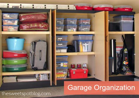 Garage Organization Cabinets Garage Organization How To The Sweet Spot