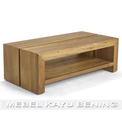desain meja panjang meja tamu jati desain minimalis blok