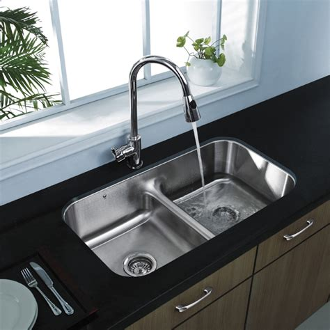double sinks kitchen 20 quot au courant quot stainless steel sinks abode