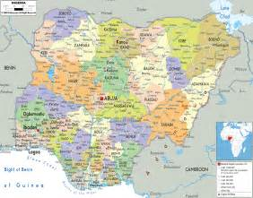 www map of detailed political map of nigeria ezilon maps