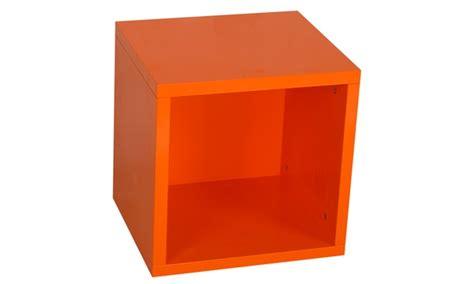 mensole arancioni mensola o cubo di design groupon goods