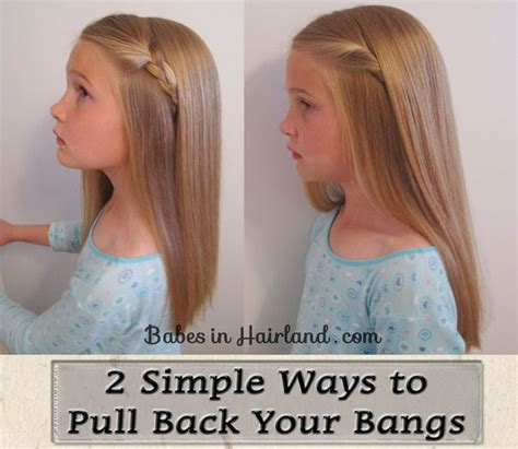 hairstyles to pull your bangs back 2 simple ways to pull bangs back 1 hair styles and