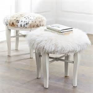 Vanity Stool Fur Larson Look For Less Challenge Faux Fur Vanity