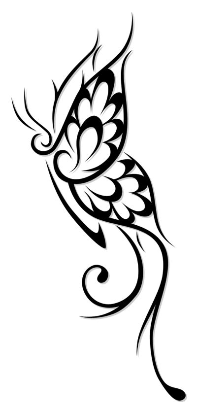 tribal butterfly tattoos tumblr amazing flowery tribal butterfly design sle