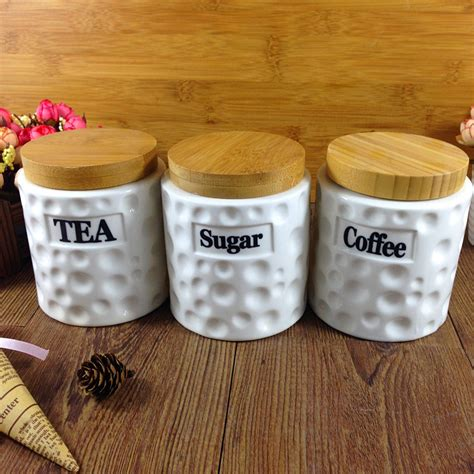 cheap kitchen canisters get cheap tea coffee sugar canisters white