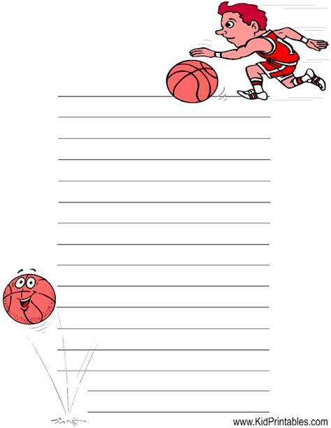 printable basketball stationary kid printables printable basketball stationery