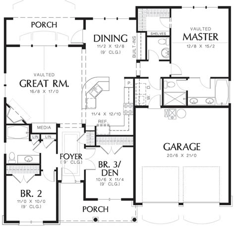 48 square feet cottage style house plan 3 beds 2 5 baths 1580 sq ft