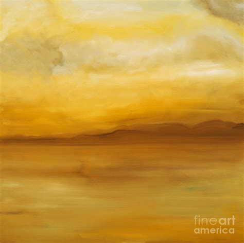 Yellow Landscape Pictures Contemporary Yellow Landscape Painting Light By