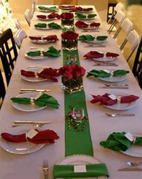 red and green table decorations photograph red and green c