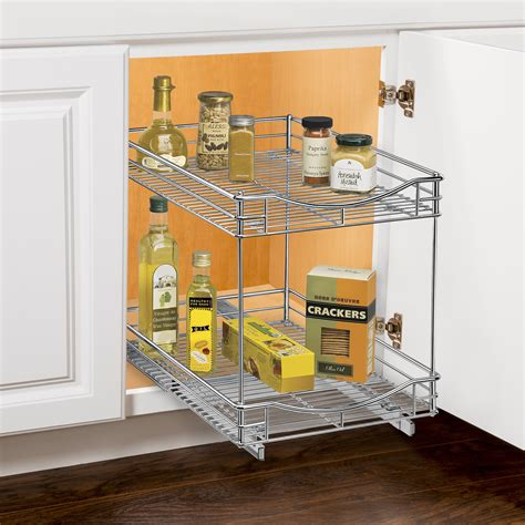 lynk under cabinet storage lynk professional roll out double shelf pull out two