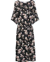 Maxi Miyako Pink emilio pucci silk caftan with hydrangea print in floral