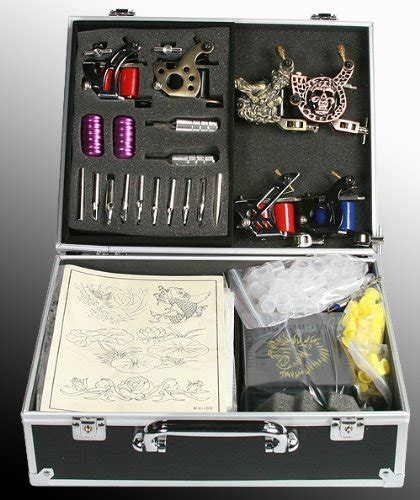 tattoo design kit tattoo machine kit with 6 guns by fancier s t06 white