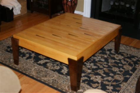 coffee table      salvaged bowling alley lane