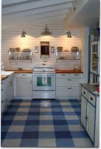 plaid linoleum floor playroom stove cabin